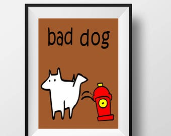 bad puppy, naughty dog, funny, silly, kid, child,