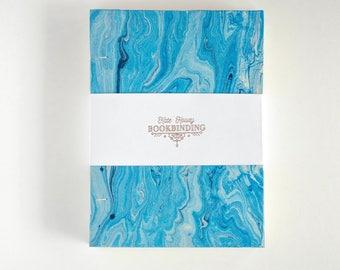 Handmade Blue Marble Notebook   Bullet Journal