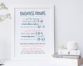 Small Business Poster –Instant Download