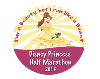 Princess Half Marathon 2018 - Running Pin - Half Marathon Button - Theme Park Button - Racing Pin - Winning Button