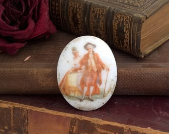 vintage porcelain plaque,  finding, upcycle, repair