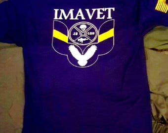 IMAVET Classic T Blue cotton/polyester