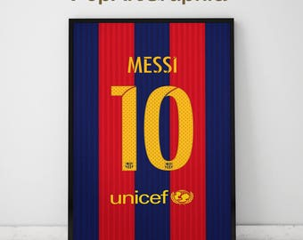 """Lionel Messi poster, Jersey print, 11""""x17"""""""