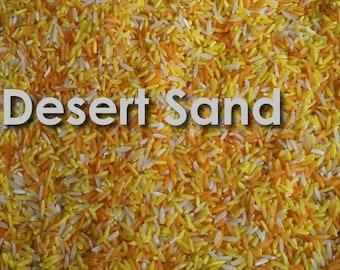 2# bag of Rainbow Rice in Desert Sand Orange & Yellow blend for Sensory Play Kit Bin