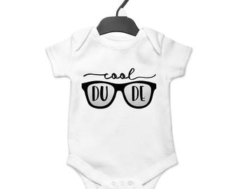 Cool Dude Onesie, Baby Boy, Baby Clothes, Baby Gift, Baby Shower