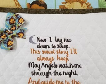Reading Pillow Embroidery Design- Bedtime Prayer