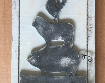 Hand painted Rustic Farm Welcome Sign