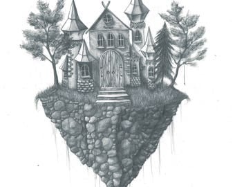 Castle in the Clouds Print.