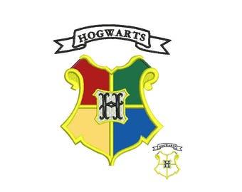 Hogwarts Embroidery Design - Harry Potter Applique - 3,4,5 inch size