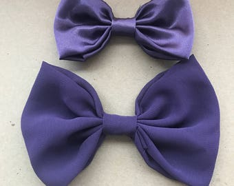 bows 2 pack in Satin and Chiffon Purple