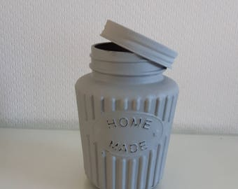 Hand made grey jar