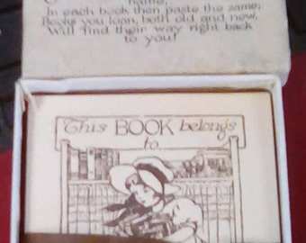 Vintage Box of Book Plates