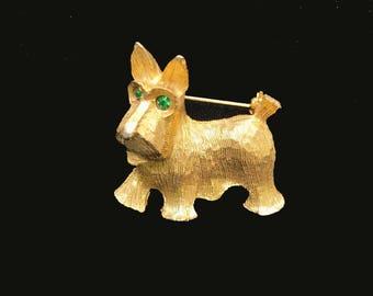 Vintage Scottish Terrier Brooch