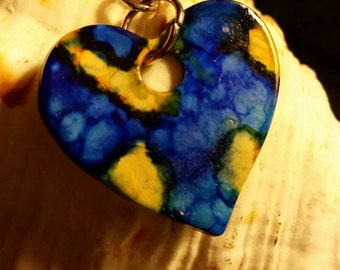 Reversible Heart Blue And Yellow