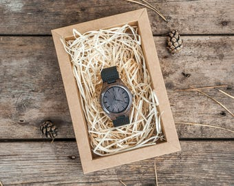 Wood Watch,Men watch,wooden watch,leather watch,Engraved wood Watch,black wood watch,personalized watch,mens wooden watch,husband gift watch