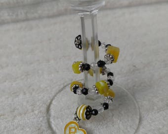 Pittsburgh Pirates Stem-Wrap Wine Charm