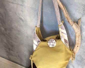 Mustard box handbag