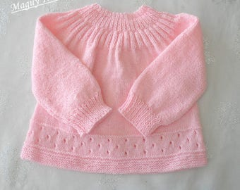 Life jacket baby baby pink baby wool 3 months
