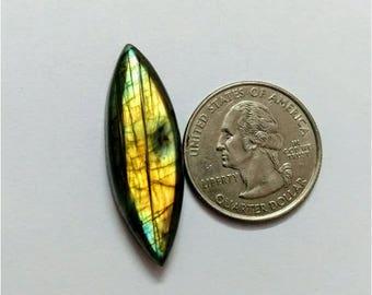 36.58x13.05mm, Marquise Shape Labradorite Cabochon/Golden  flaseh/Attractiv Labradorite/wire wrap stone/pendent size Labradorite/ Cabochon