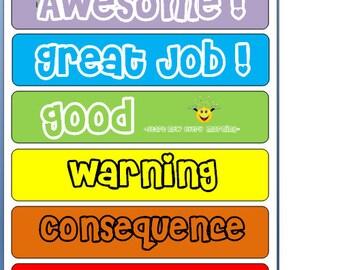 Color Code Behavior Chart
