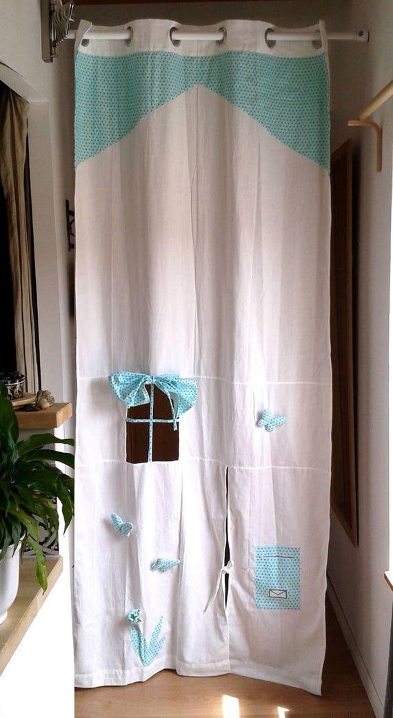 rideau et accessoires cabane pour enfant tissu g om trique. Black Bedroom Furniture Sets. Home Design Ideas