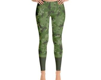 Green Camo Leggings fashion leggings military camouflage leggings