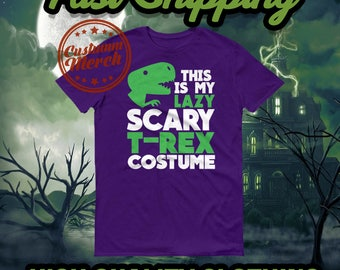 Halloween This Is My Scary T-Rex Costume Funny Short sleeve t-shirt
