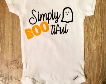 Simply Bootiful, Halloween Onesie, Holiday Onesie, Halloween Baby, Halloween Girl, Ghost Onesie, Baby Onesie, Baby Girl Onesie, Girl Onesie