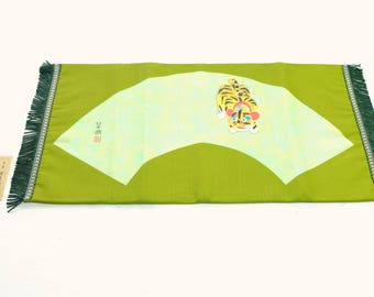 Japanese Vintage Table Runner Tiger Green