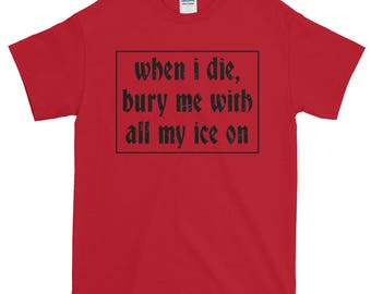 Lil Peep x Lil Tracy Shirt / when i die, bury me with all my ice on / witchblades / demons / lil peep shirt /
