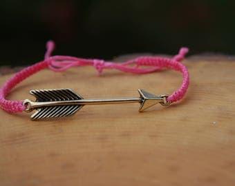 Arrow Charm Adjustable Bracelet