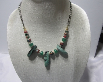 Multi-color Agate Necklace