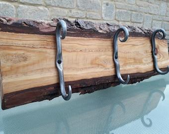 Cherry wood coat hanger