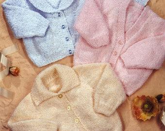 Baby Raglan Cardigans, Knitting pattern, instant download.