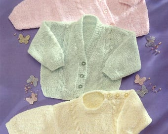 Baby Cardigans and Sweater, Knitting pattern, Instant Download.