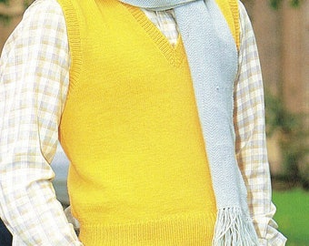 Men's Vest, Knitting Pattern, Instant Download.