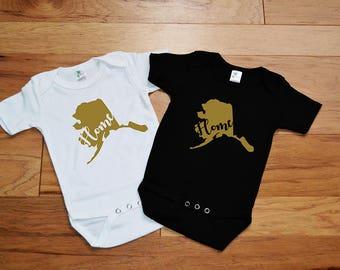 alaska state home baby shirt - girls alaska home bodysuit - alaska state home girls shirt - baby girl alaska home shirt - baby alaska