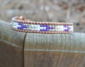 Single wrap bracelet. seed beads