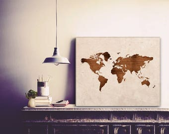 Large canvas wrap etsy world map world map wall art world map canvas large world map publicscrutiny Gallery