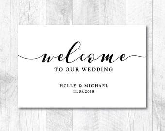 Customizable Wedding SVG, Welcome Wedding SVG, DIY Wedding svg, Welcome To Our Wedding, Welcome Wedding, Sign, Cut File, Print, Stencil