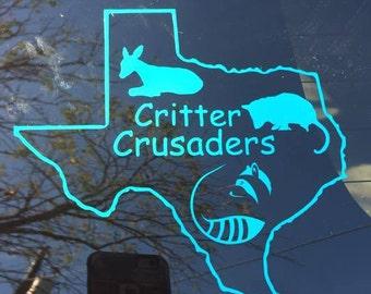 Texas Critter Crusaders Vinyl Decal