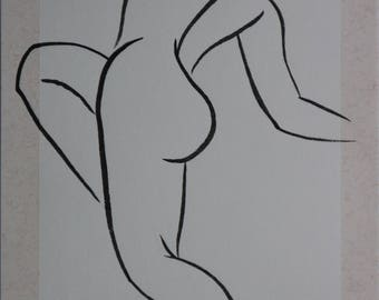 Female nude drawing 108