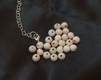 Unfinished wooden beads, 7mm