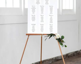 Simple Seating Chart |  Seating Chart | Reception | Wedding Seating | Printable Seating Chart