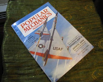 Vintage Popular Mechanics Magazine September 1956 - US Air Force - Delta B-58 - Continental Mark II - Antarctic Album - and More!