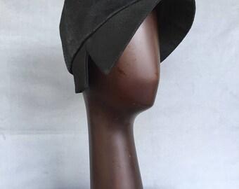 DARCY - Cloche - Black Snake Skin Jacquard Silk/Wool