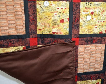 Wine and Chocolate Quilt - Throw Quilt
