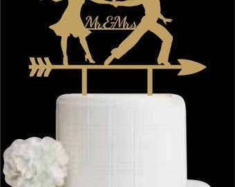 Mr and Mrs Cake Topper, Dancing Couple Wedding Cake Topper, Cake Topper for Wedding, Personalized Wedding Cake Topper, Wedding Decorations