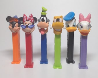 Disney Extreme Pez collection - LOT of 6 - Mickey Mouse, Minnie Mouse, Goofy, Pluto, Donald Duck and Daisy Duck