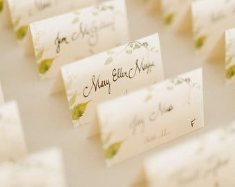 Handwriting for Place Cards